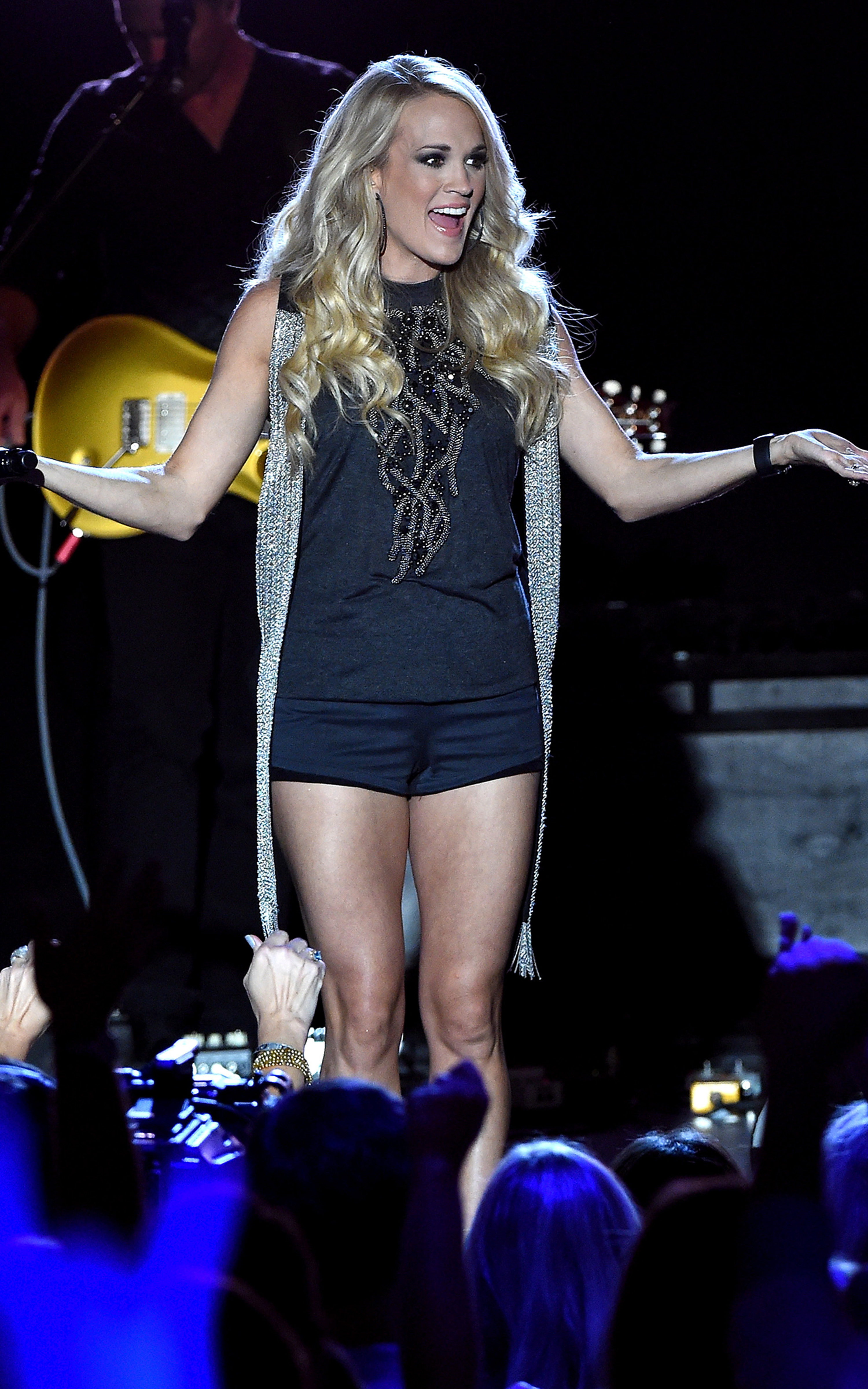 Carrie Underwood Delivers Smoking Surprise Show