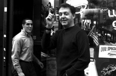 Paul McCartney On The Street In New York City 2001
