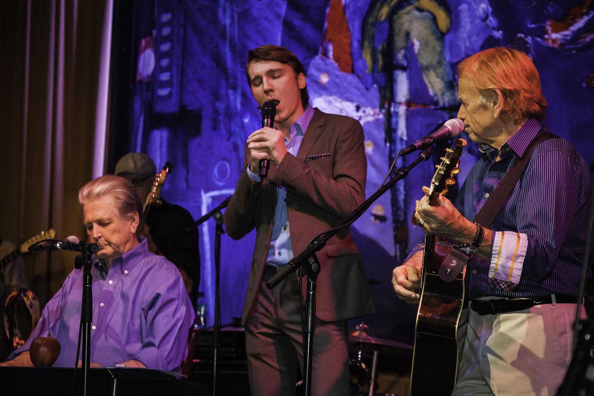Brian Wilson, Paul Dano Play Beach Boys Hits at 'Love & Mercy' DVD Launch