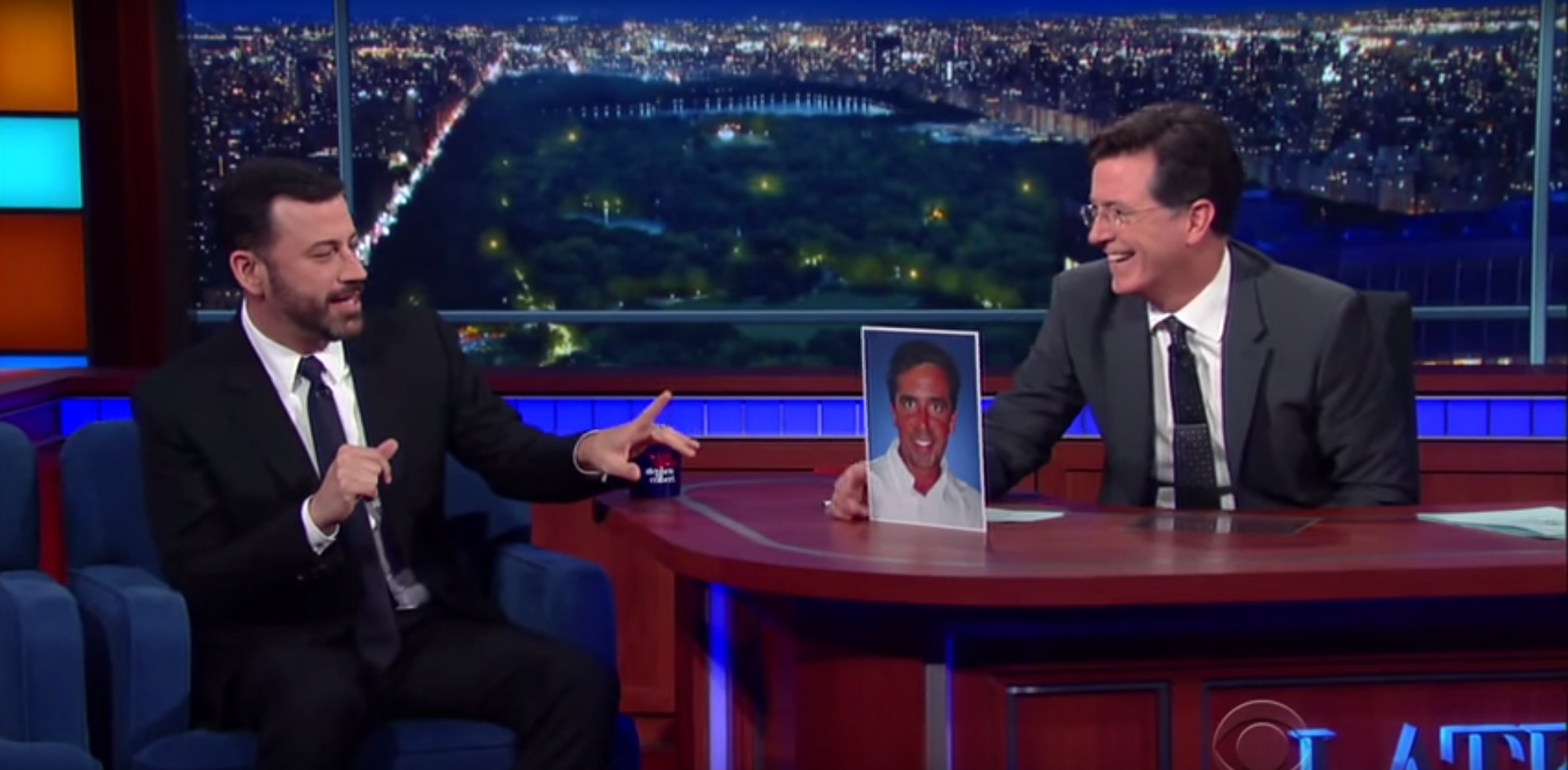Stephen Colbert, Jimmy Kimmel Discuss \'Real King of Late-Night ...