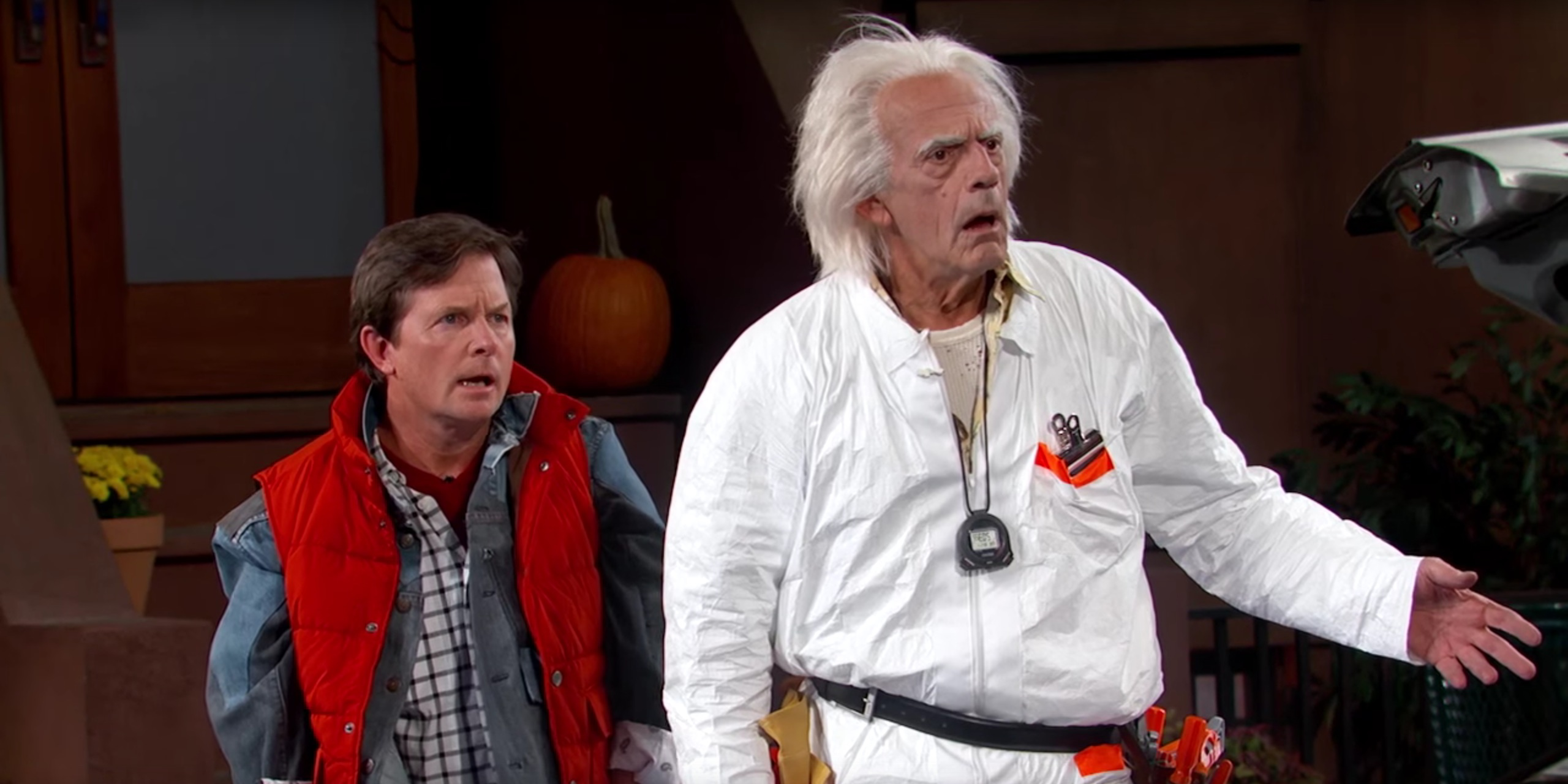 watch marty mcfly and doc brown go 'back to the future' on 'kimmel