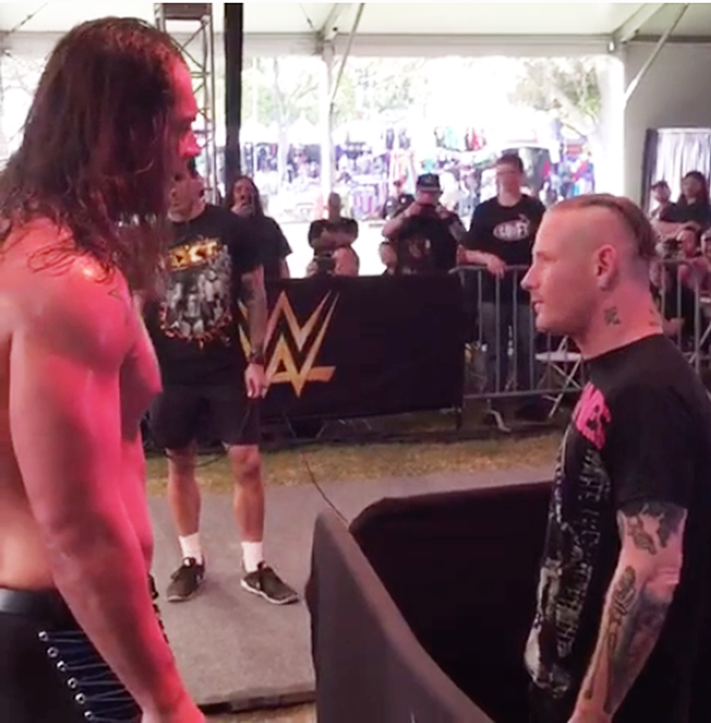 Watch Slipknot's Corey Taylor Slap the Sh-t Out of NXT's Baron Corbin