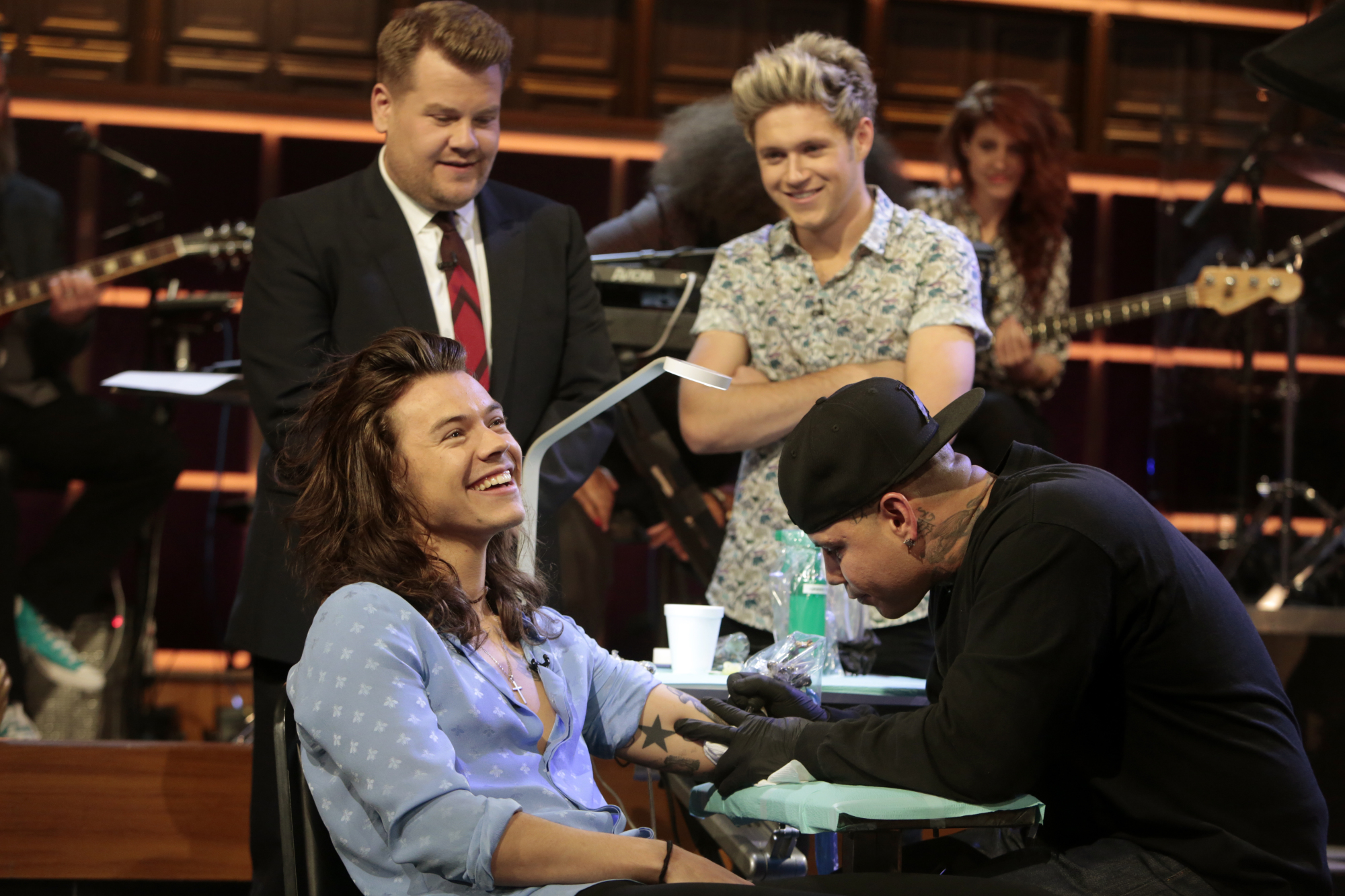 Watch One Direction Play Tattoo Roulette With James Corden