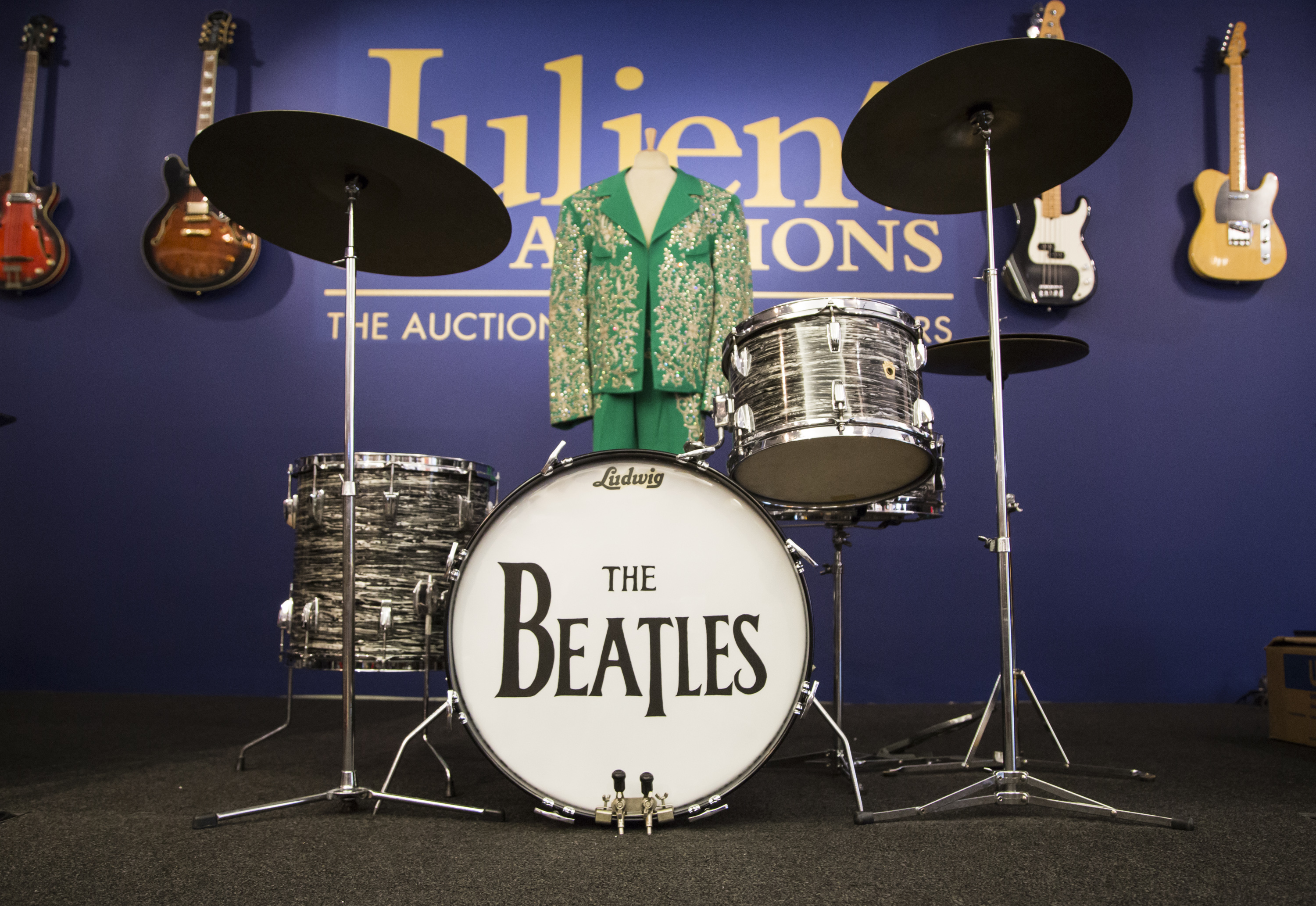 Ringo Starrs 1963 Ludwig Drum Kit Which Indianapolis Colts Owner Jim Irsay Purchased For Over 2 Million At Auction