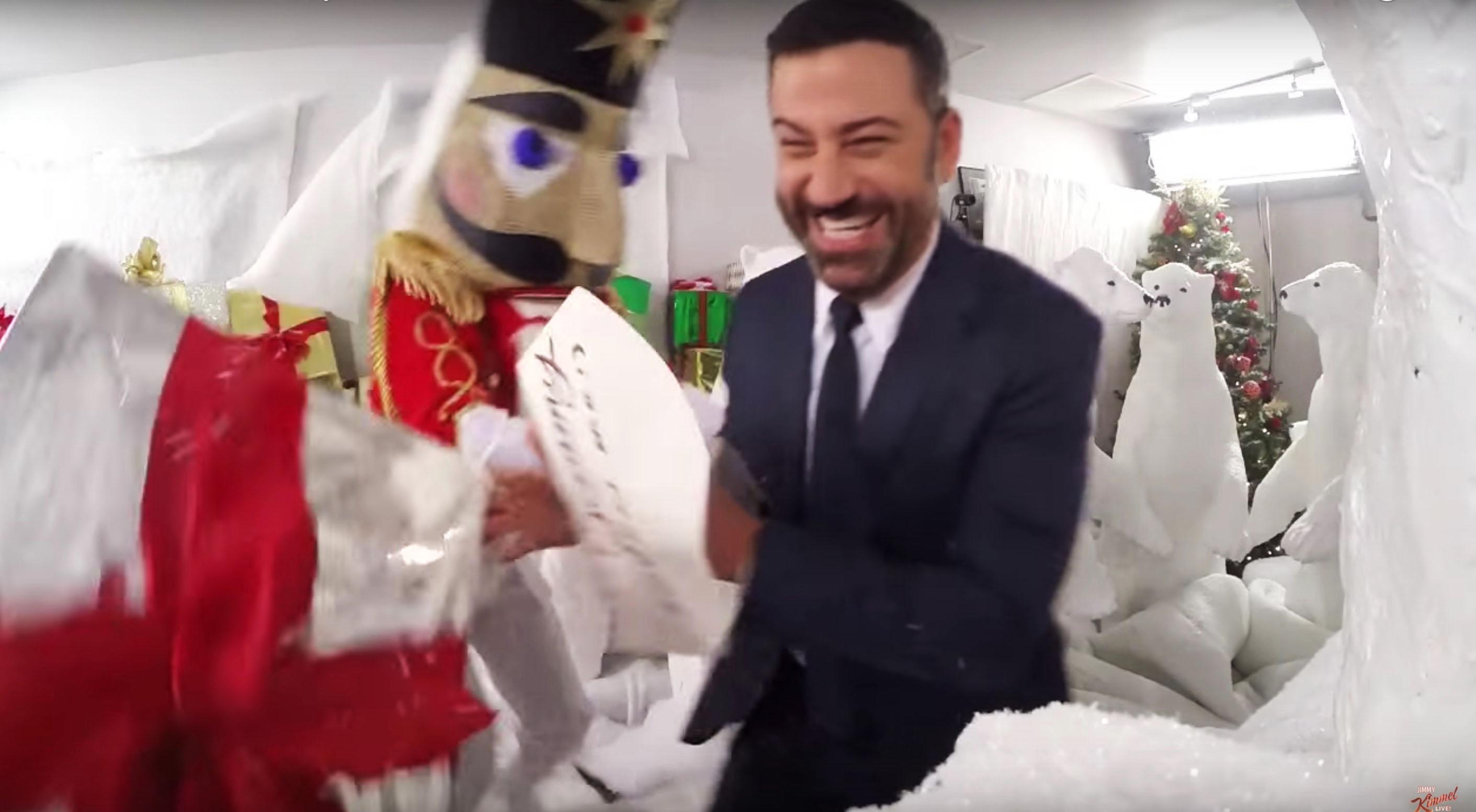 Watch John Krasinski, Kimmel\'s Outlandish Christmas Prank War ...