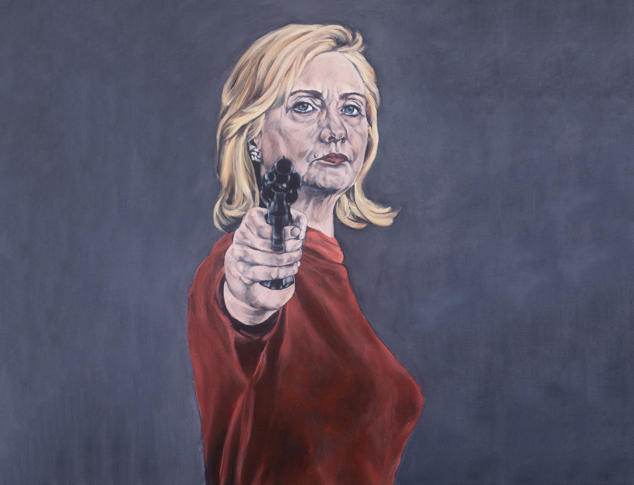 Image result for pics of hillary pointing a gun