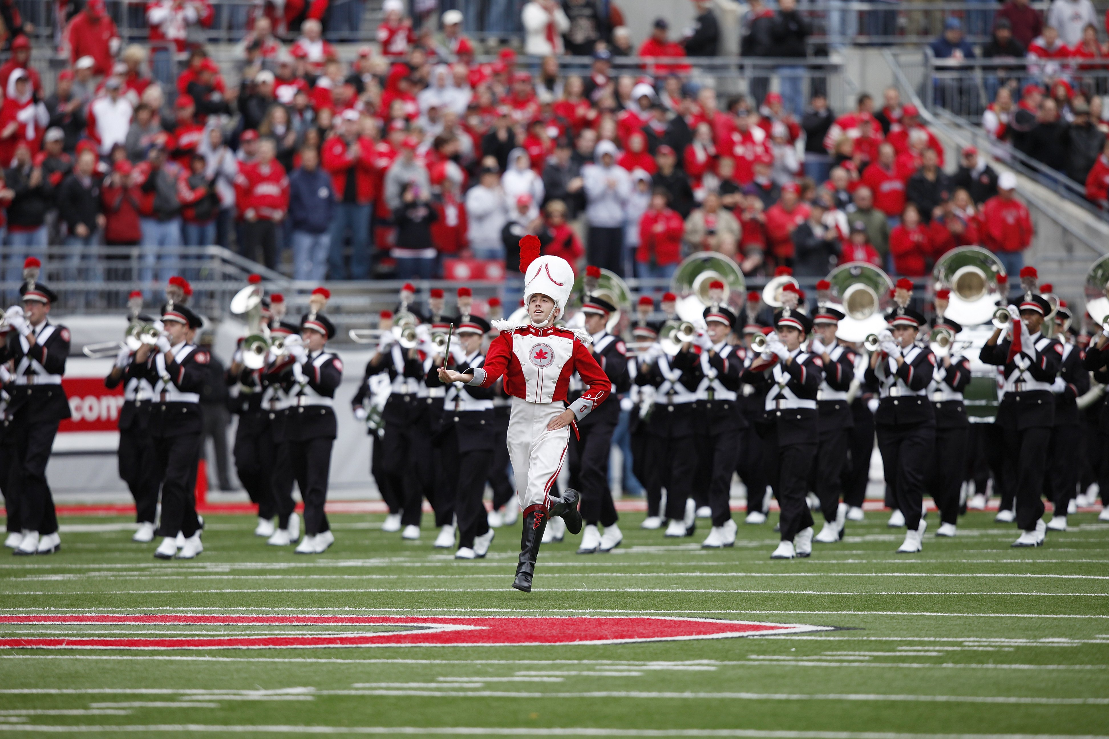 08ee88f8740 COLUMBUS, OH - OCTOBER 24: Ohio State Buckeyes marching band performs on  the field before the game against the Minnesota Golden Gophers at Ohio  Stadium on ...