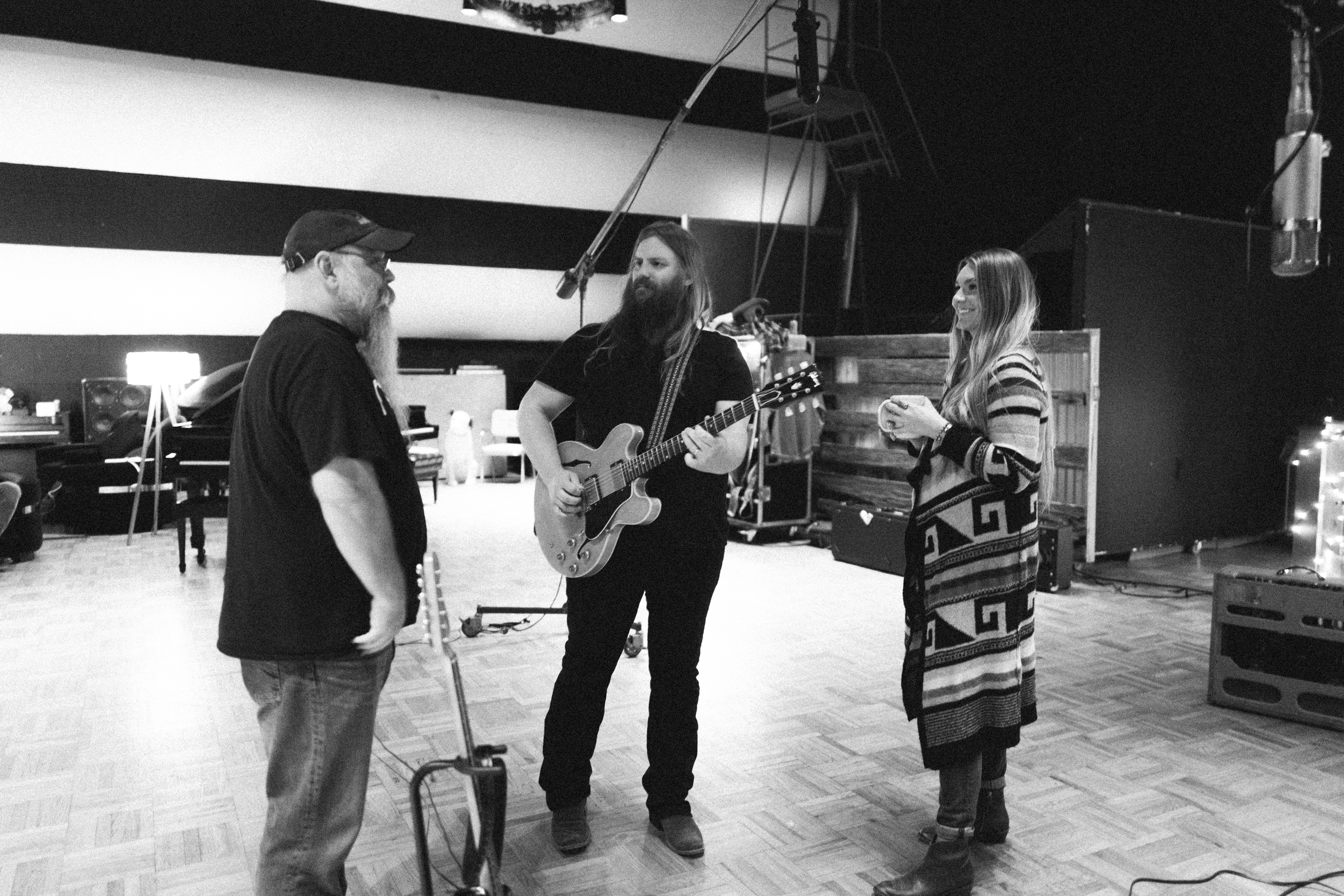 In the Studio: See Intimate Photos of Morgane and Chris Stapleton