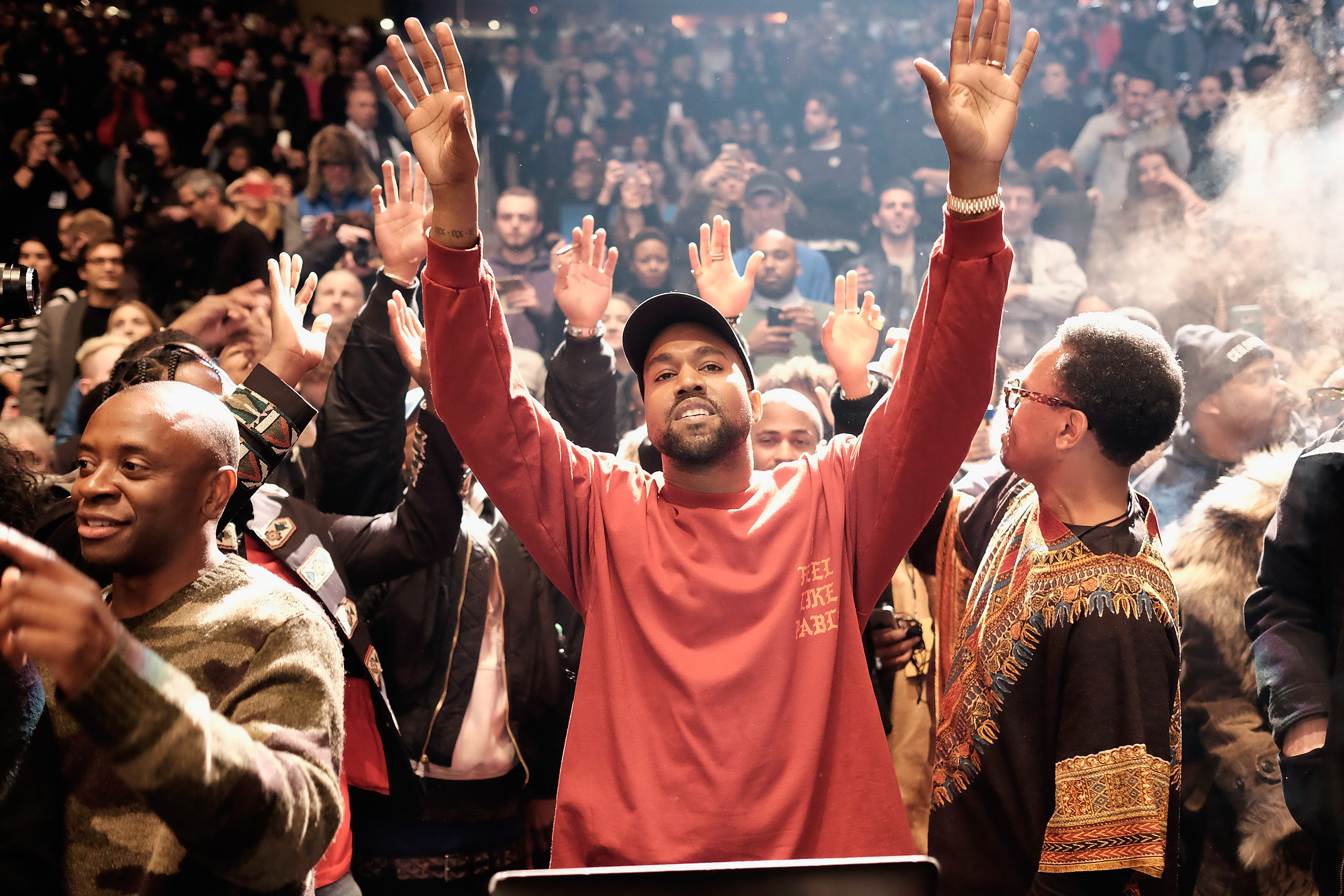 544634ec4a3a See Photos From Kanye West s Wild New York Album Launch – Rolling Stone