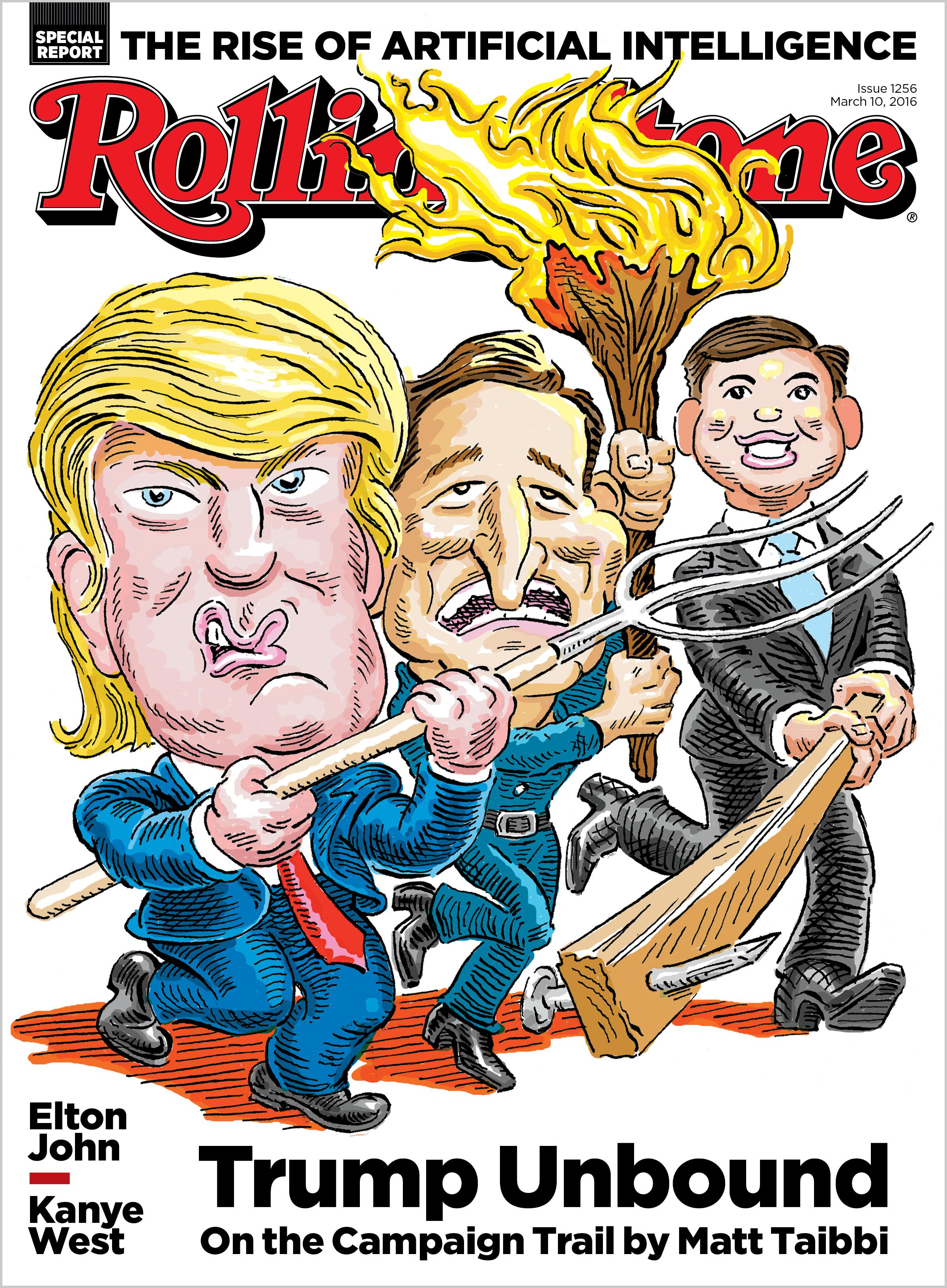 Trump; GOP Primaries; Cruz; Rubio; 2016; Rolling Stone Cover