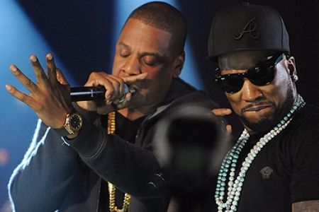Young Jeezy Joined Onstage By Jay Z Kanye West Celebrating Tm101 Anniversary Rolling Stone