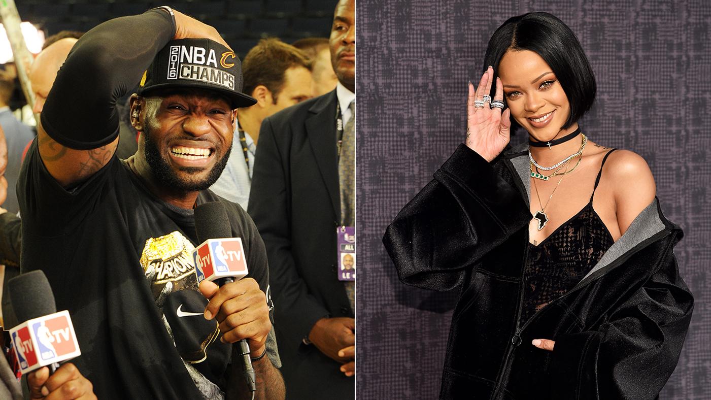 Rihanna, LeBron James Superfan, Trolls