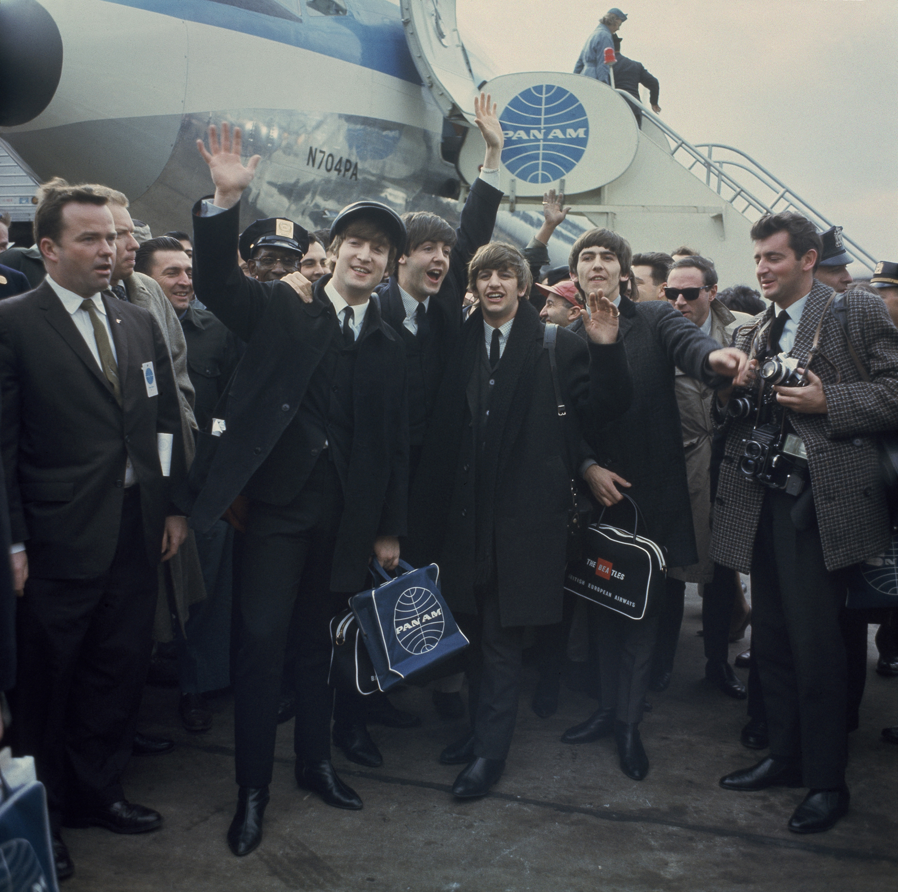 Image result for the beatles arrived in america in 1964