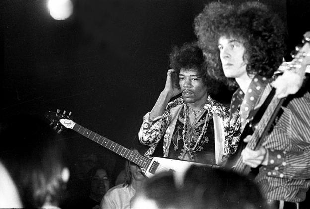 Jimi Hendrix And Bassist Noel Redding