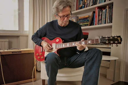 Eric Clapton Discusses His Crossroads Guitar Collection And Tests Reproduction Martin And Gibson Guitars Clapton Teamed Up With Guitar Center To Replicate His Famous Guitars Including Lucy And Brownie Rolling Stone