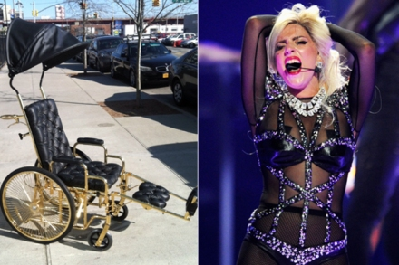 Lady Gaga's Gold Wheelchair: All the Details – Rolling Stone