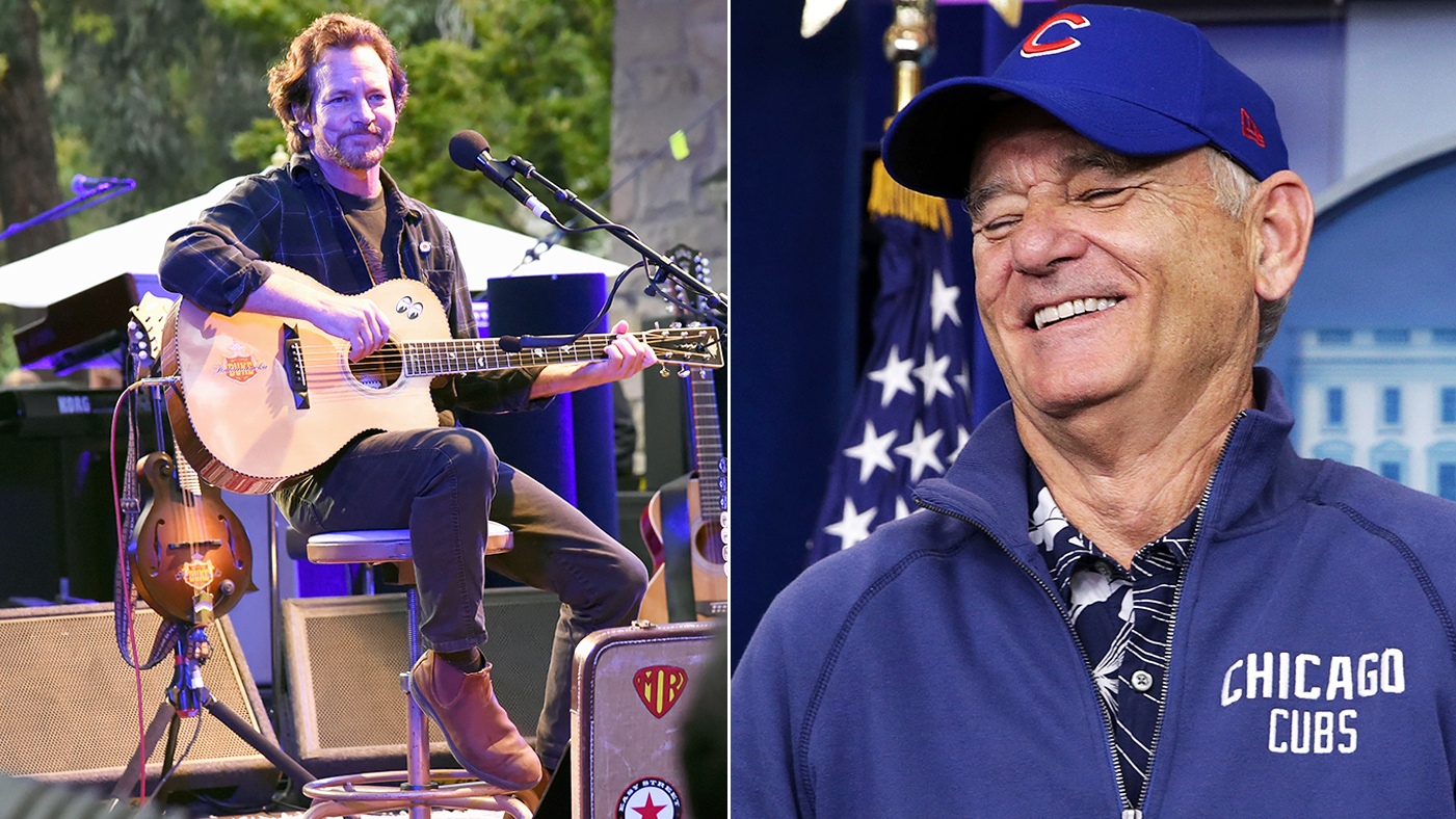Watch Eddie Vedder Bill Murray Sing The Band S The Weight Rolling Stone The ethereal tune god only knows, murray says, is a musical for years. watch eddie vedder bill murray sing