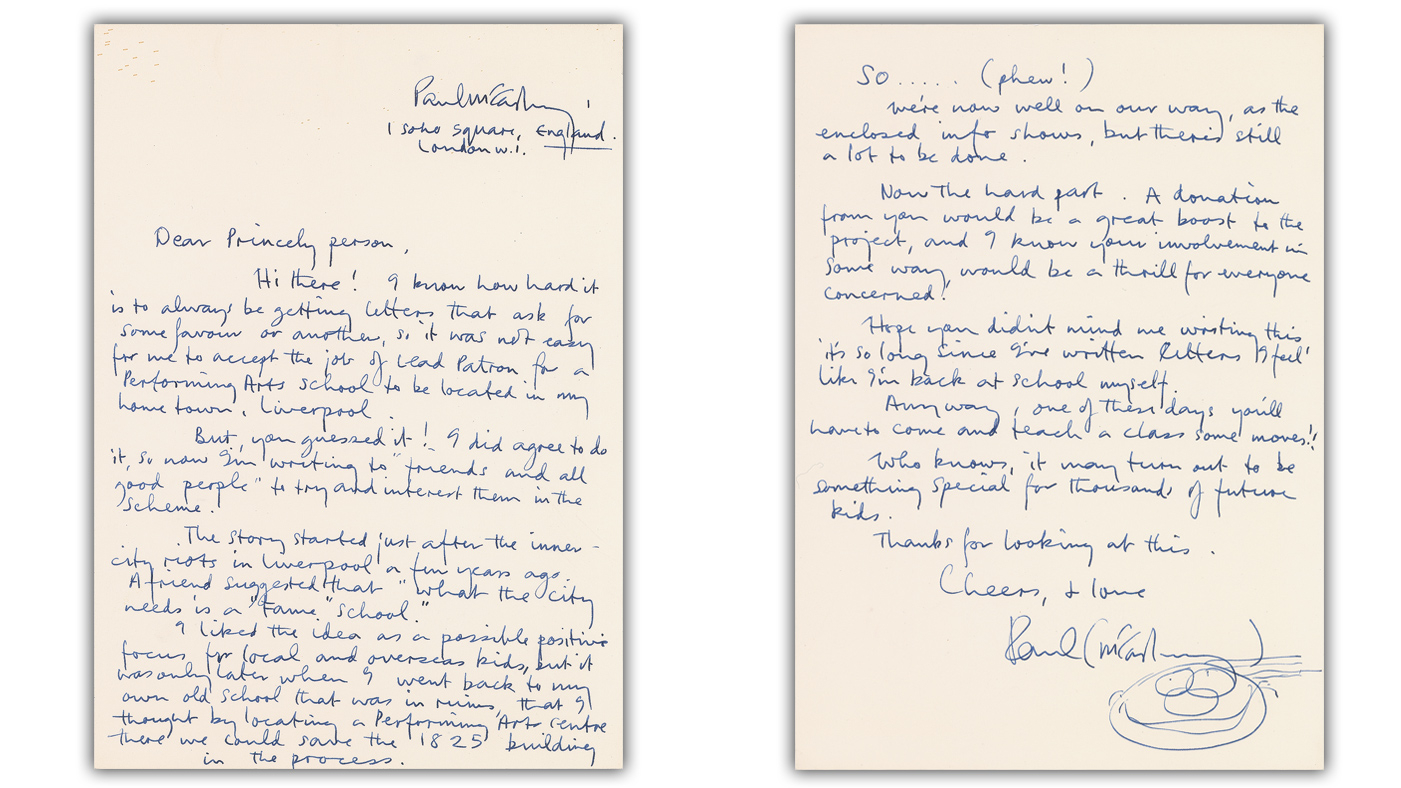 Paul McCartney Letter to Prince Sells for $14,000 at Auction