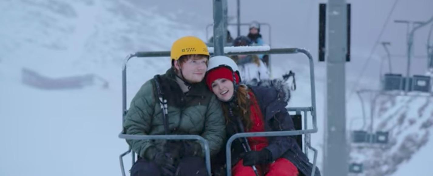 see ed sheeran on romantic ski-trip in 'perfect' video – rolling stone