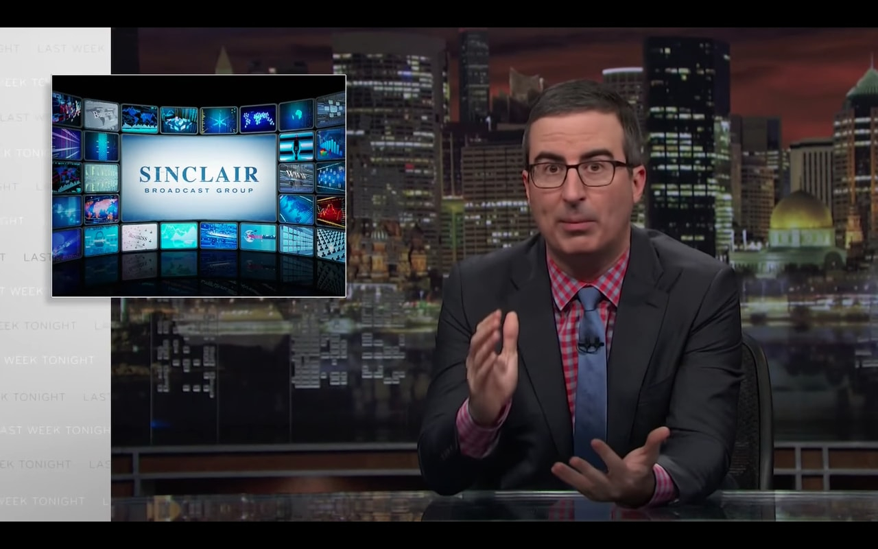 John Oliver: How Sinclair Broadcast Group 'Brainwashes' Local News