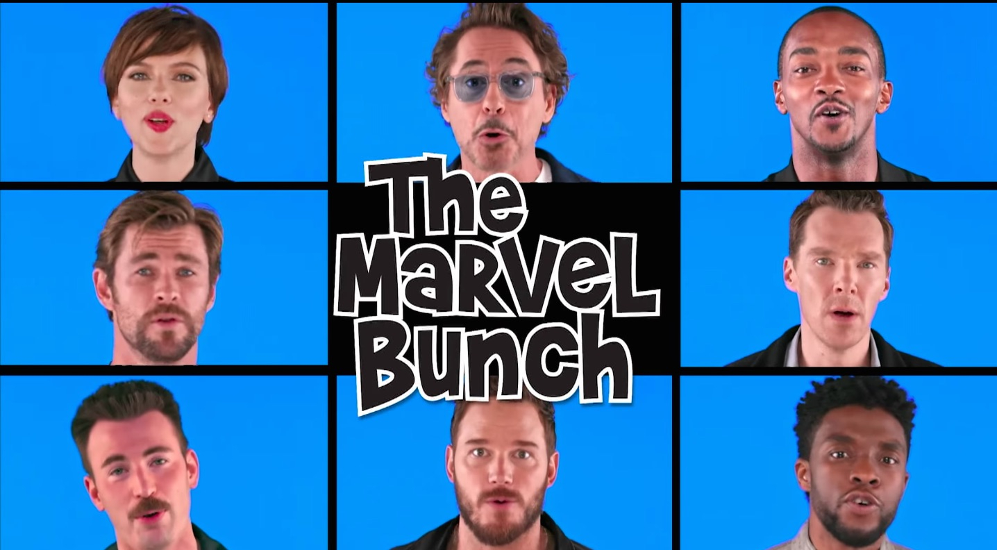 Avengers Parody Porn Subtitulos watch 'avengers' cast parody 'brady bunch' theme on 'fallon