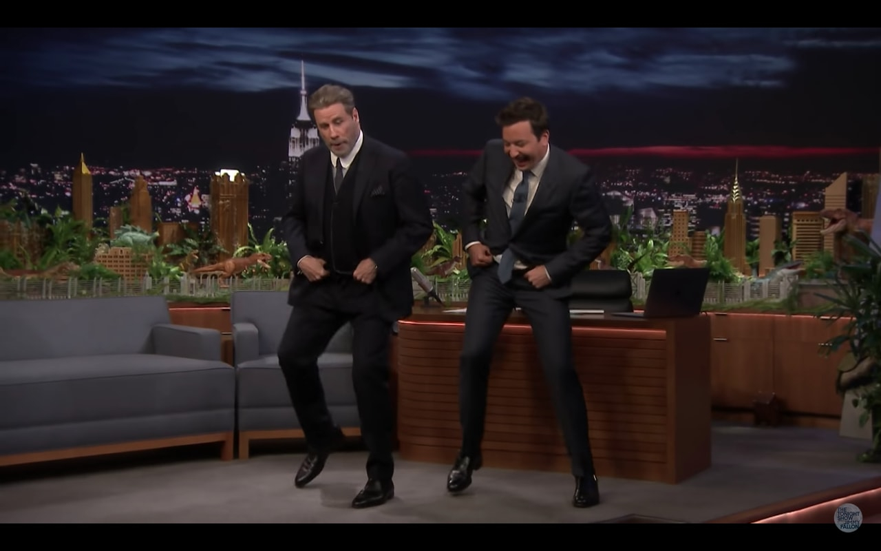 Watch John Travolta Revive 'Grease' Dance With Jimmy Fallon