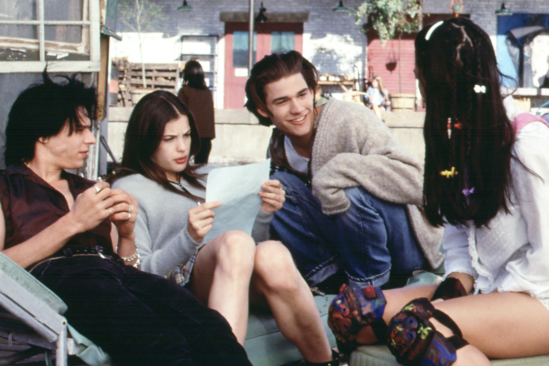Liv Tyler and Johnny Whitworth (center) in a scene from 1995's Empire Records
