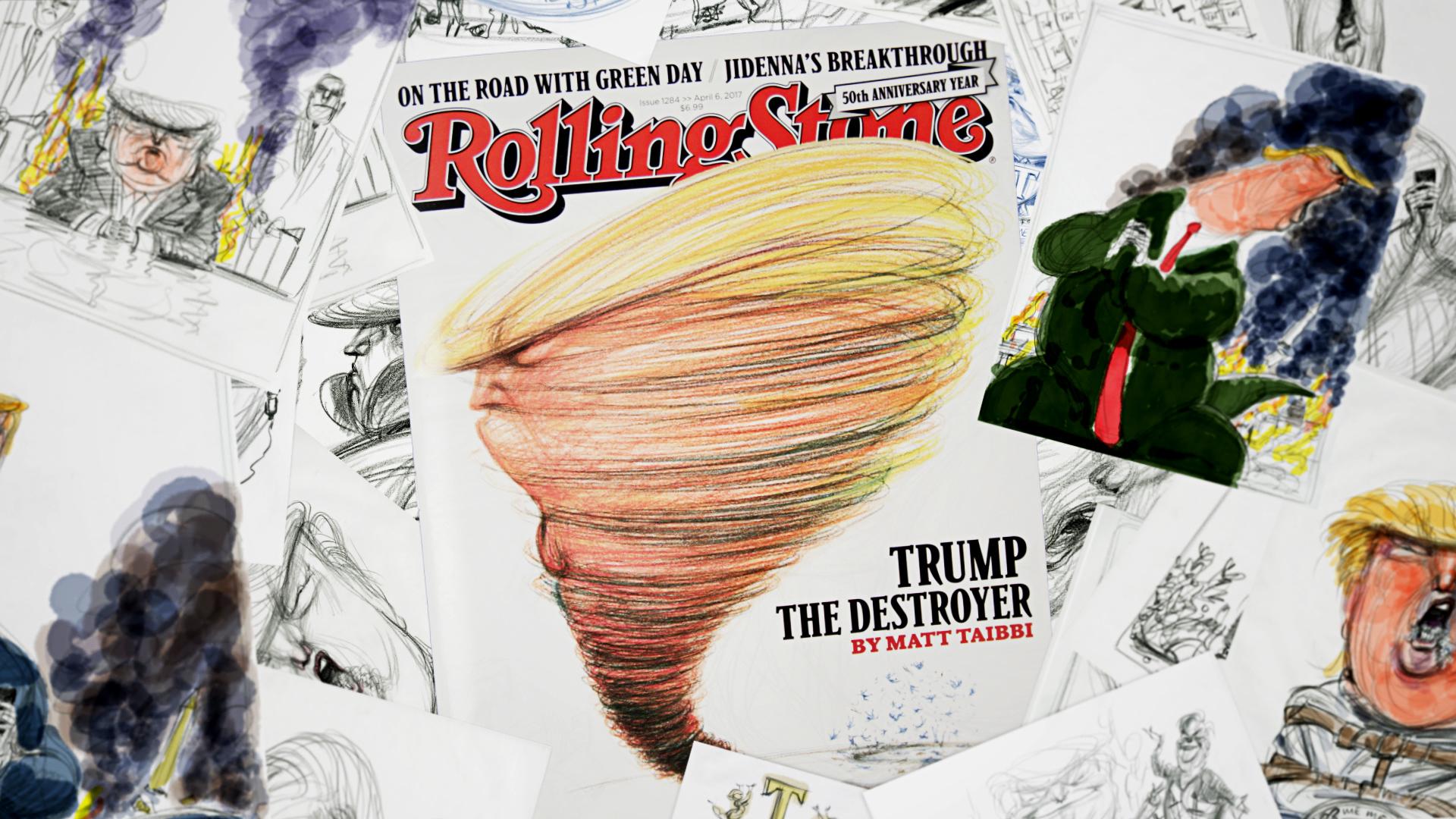 Watch Illustrator Victor Juhasz Draw President Donald