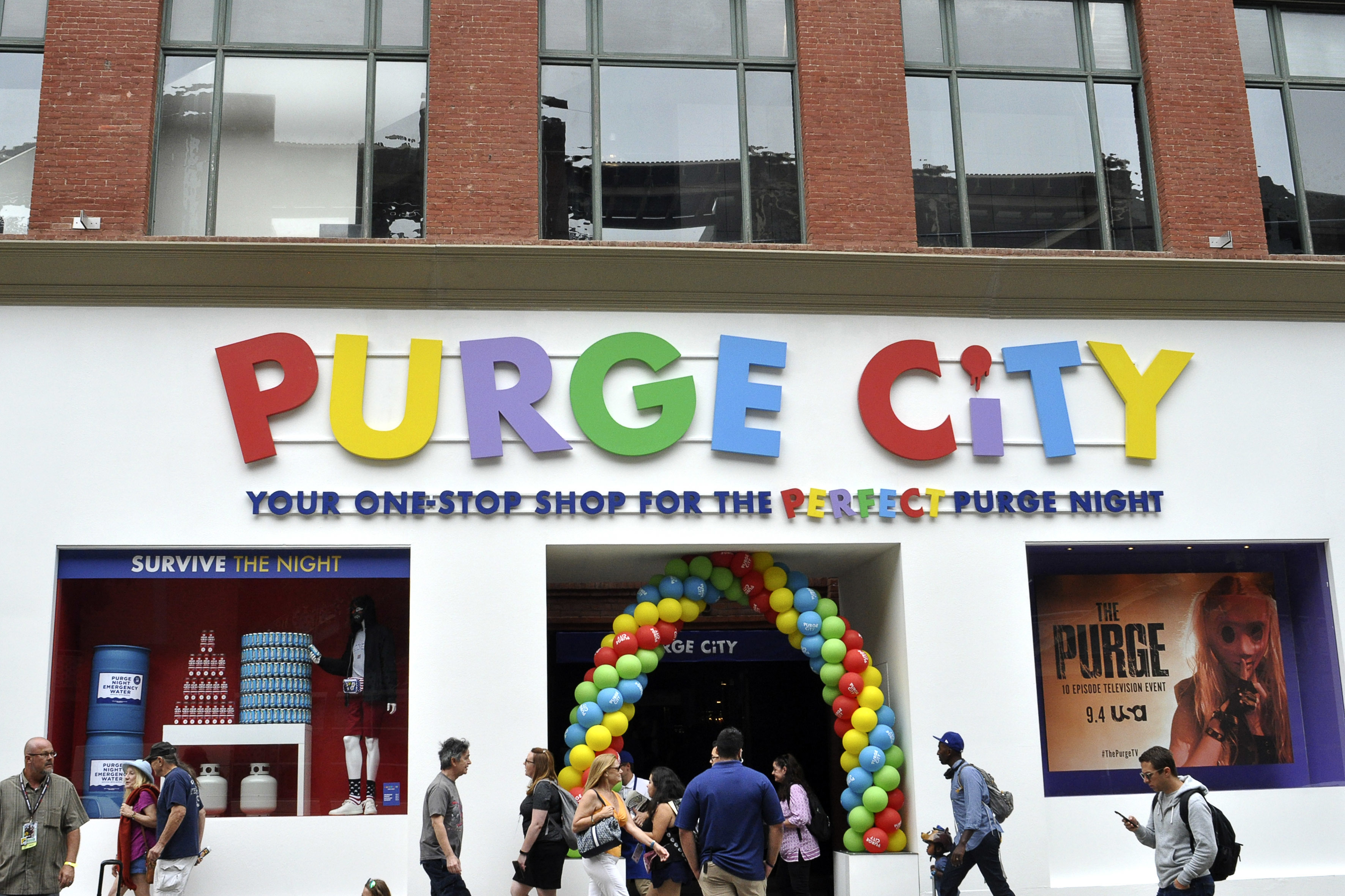 494913040cb7d3  The Purge  Promotion at the San Diego Comic-Con International 2018. San  Diego