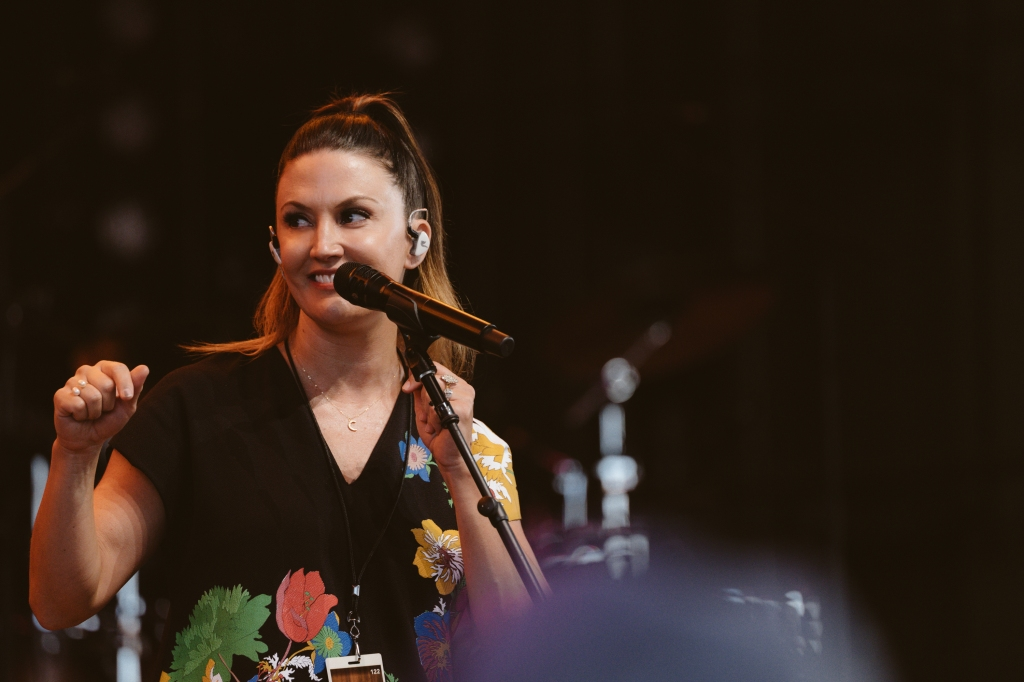 """Good times on stage in Cincinnati,"" says singer-songwriter Natalie Hemby, who played sets during opening weekend of the Bandwagon Tour. ""It's been so much fun on the road with my friends."""