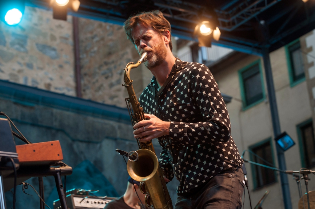 SAN SEBASTIAN, SPAIN - JULY 23: American Jazz saxophonist Donny McCaslin performs onstage with the Donny McCaslin Quartet during 52nd edition of Heineken Jazzaldia Festival on July 23, 2017 in San Sebastian, Spain. (Photo by Gari Garaialde/Redferns)