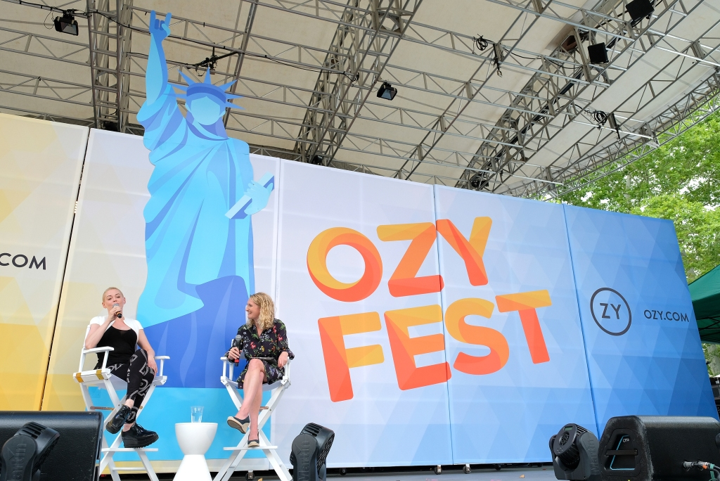 NEW YORK, NY - JULY 21: Rose McGowan speaks onstage during OZY FEST 2018 at Rumsey Playfield, Central Park on July 21, 2018 in New York City. (Photo by Matthew Eisman/Getty Images for Ozy Media)