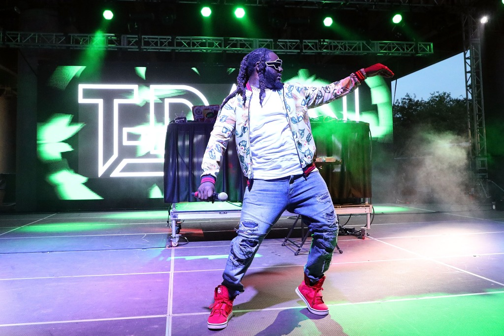 LOUISVILLE, KY - JULY 14: T-Pain performs during the 2018 Forecastle Music Festival at Louisville Waterfront Park on July 14, 2018 in Louisville, Kentucky. (Photo by Taylor Hill/Getty Images)