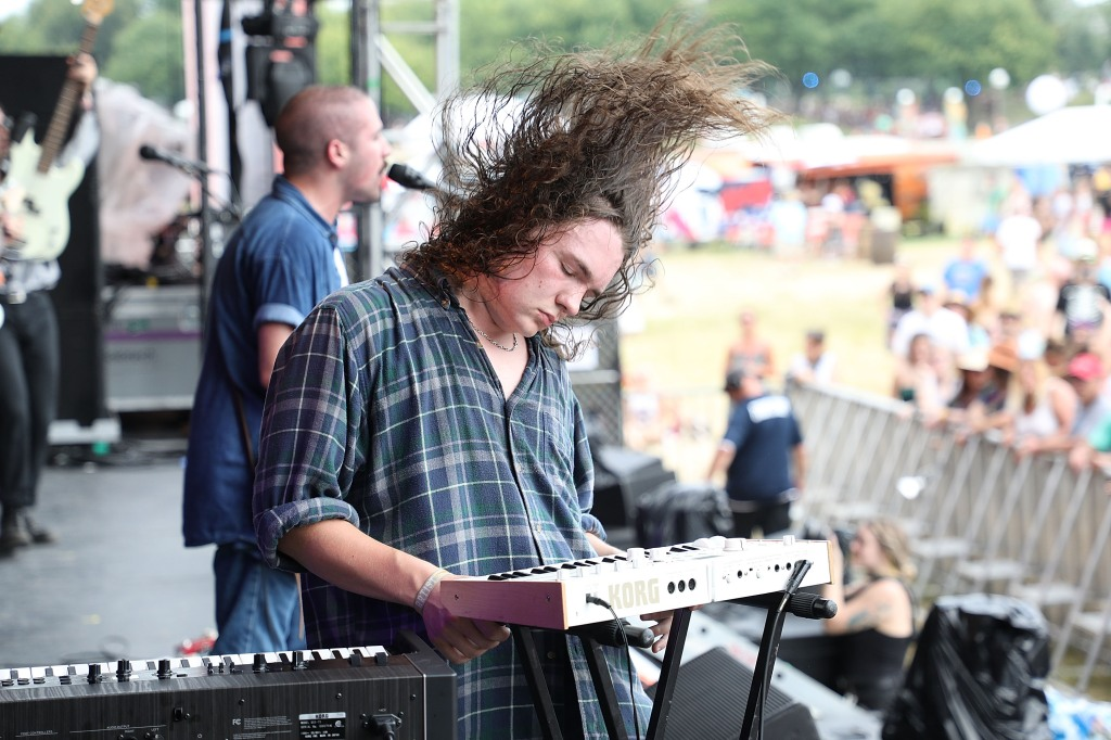 LOUISVILLE, KY - JULY 15: Ryan Hater of White Reaper performs during the 2018 Forecastle Music Festival at Louisville Waterfront Park on July 15, 2018 in Louisville, Kentucky. (Photo by Taylor Hill/Getty Images)