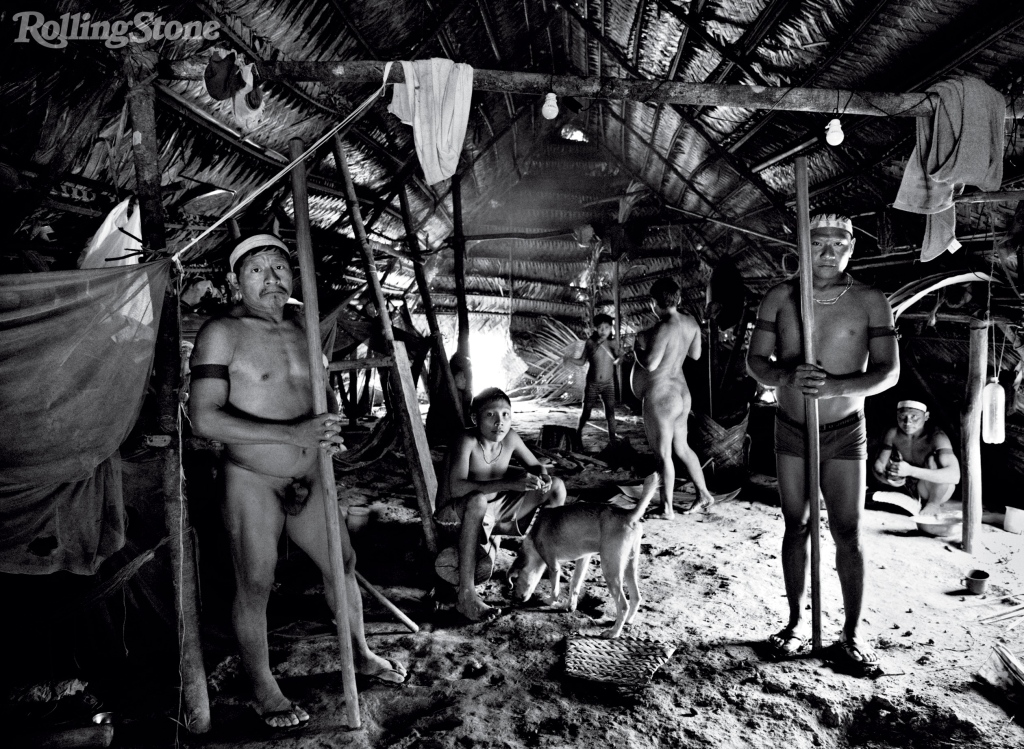 The Korubu live in long communal huts called malocas. Little is known about the isolated tribes of the Javari Valley, in a part of the Amazon known as the Uncontacted Frontier.