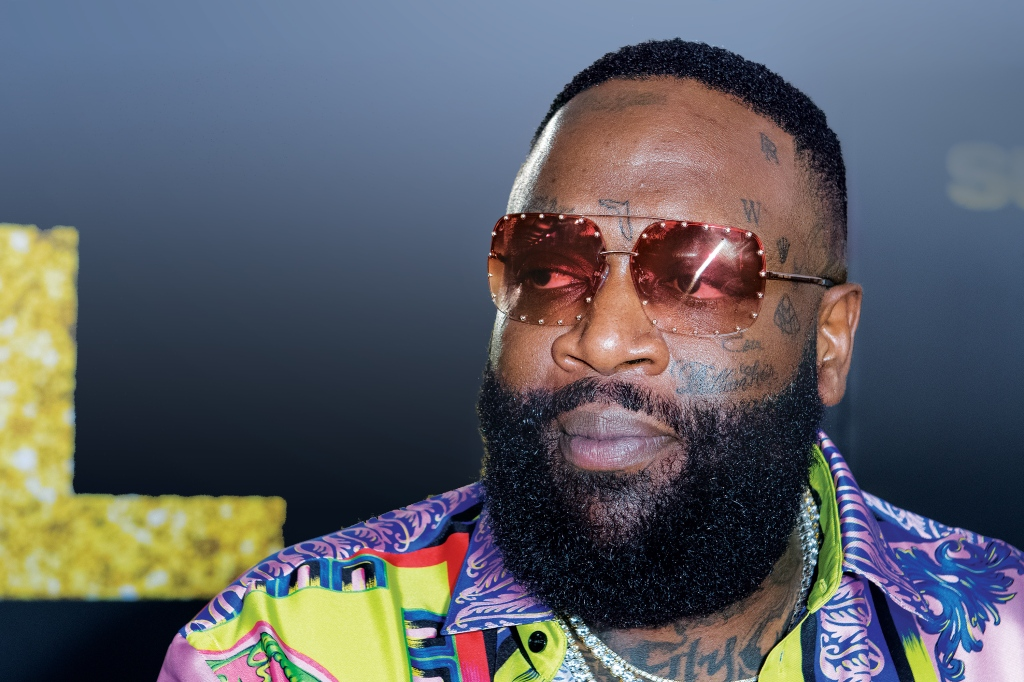 Rick Ross has Rolex and Maybach logos – plus the state of Florida