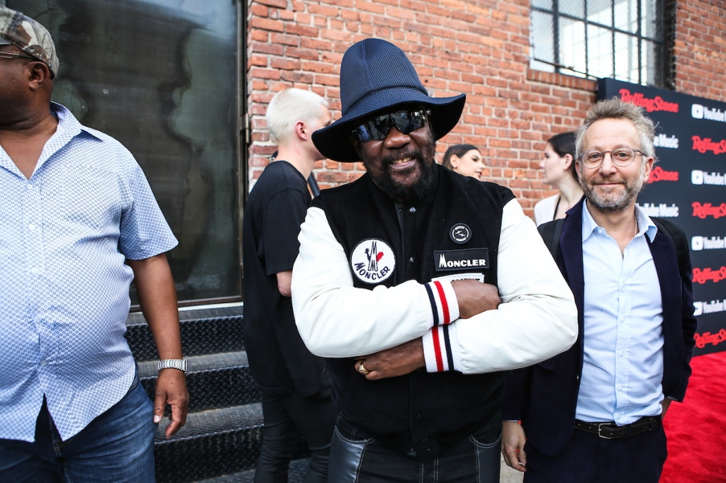 Rolling Stone Editor Jason Fine arrives with Toots of Toots and the Maytals