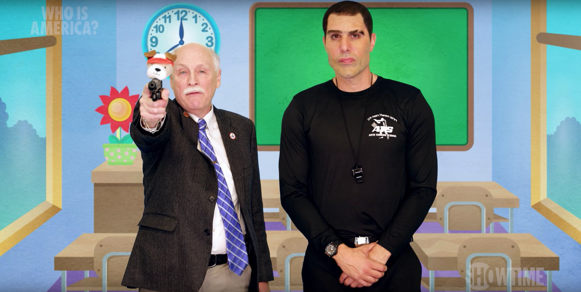 Watch Sacha Baron Cohen Dupe Gun Lobby in ?Who Is America?? Clip