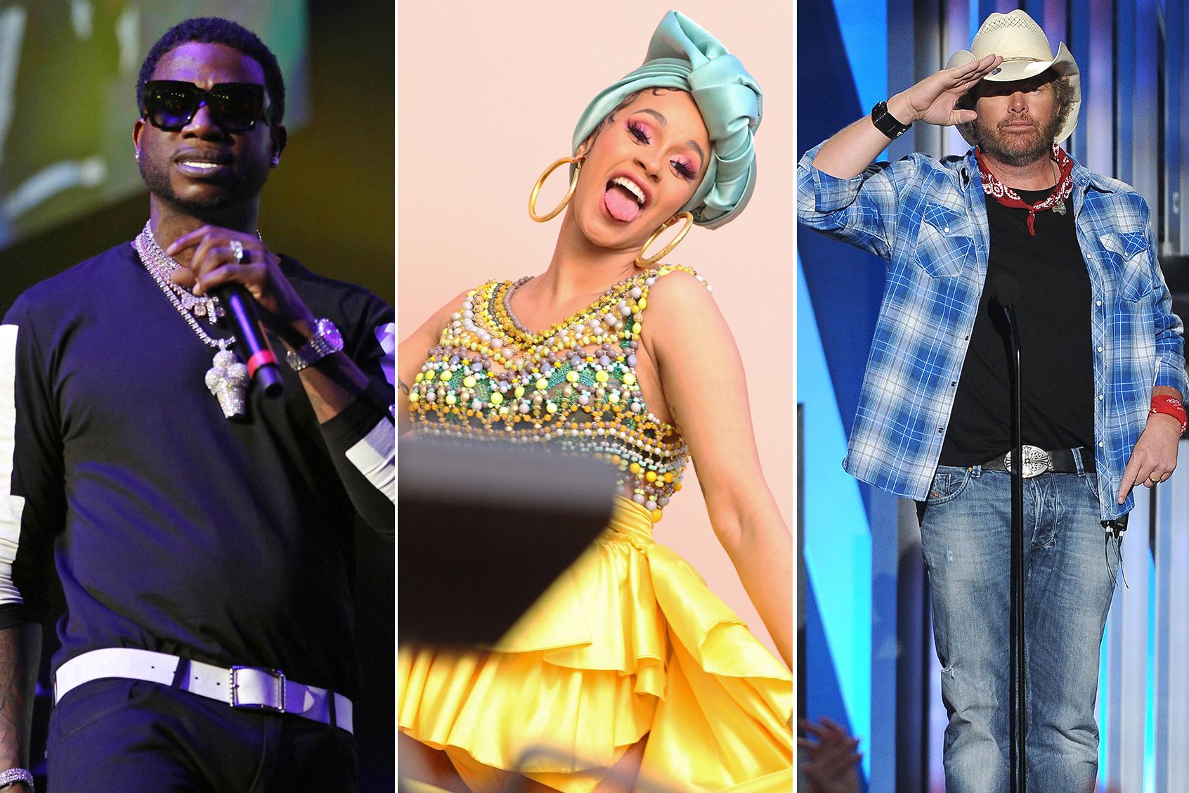 Cardi B, Sammy Hagar, Gucci Mane, Toby Keith to Headline Arkansas