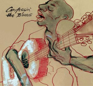 Cover art by Ronnie Wood. rolling stones confessin the blues