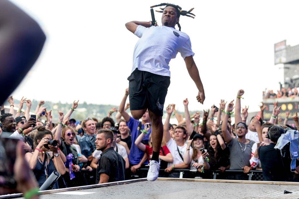 Denzel Curry aka Denzel Rae Don Curry from the US performs during the OpenAir Frauenfeld music festival, in Frauenfeld, Switzerland, 07 July 2018. The 24th OpenAir Frauenfeld runs from 05 to 07 July.OpenAir Frauenfeld 2018, Switzerland - 07 Jul 2018