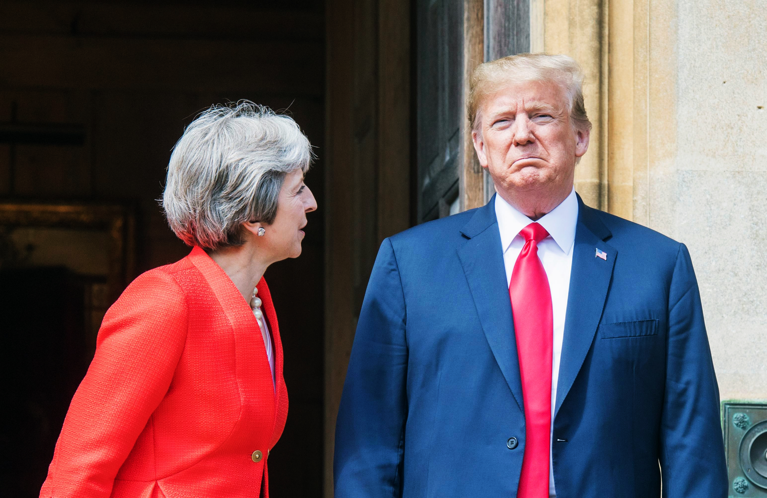 Trump Calls His Own Comments About Theresa May Fake News