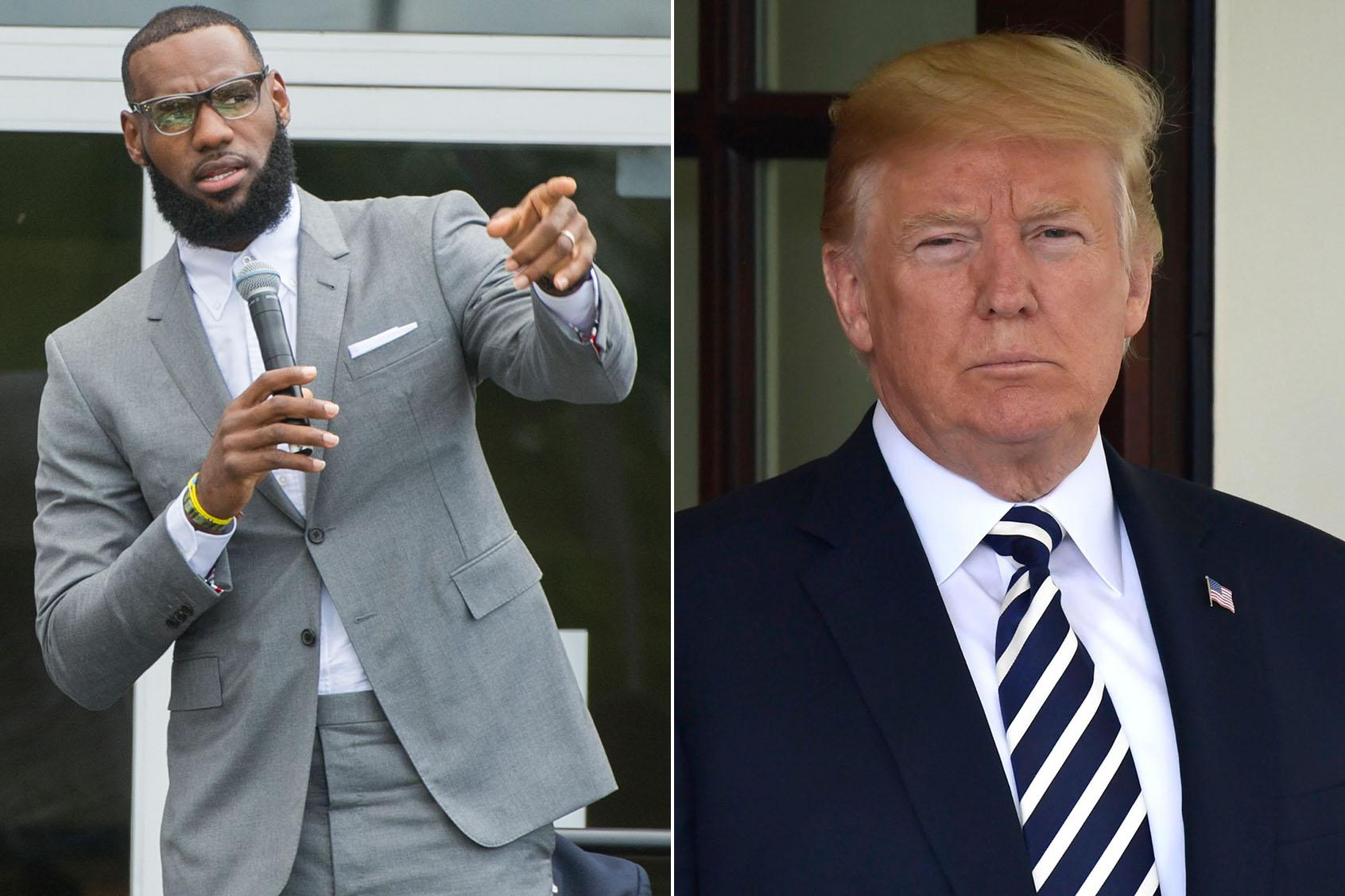 Image result for LeBron James trump