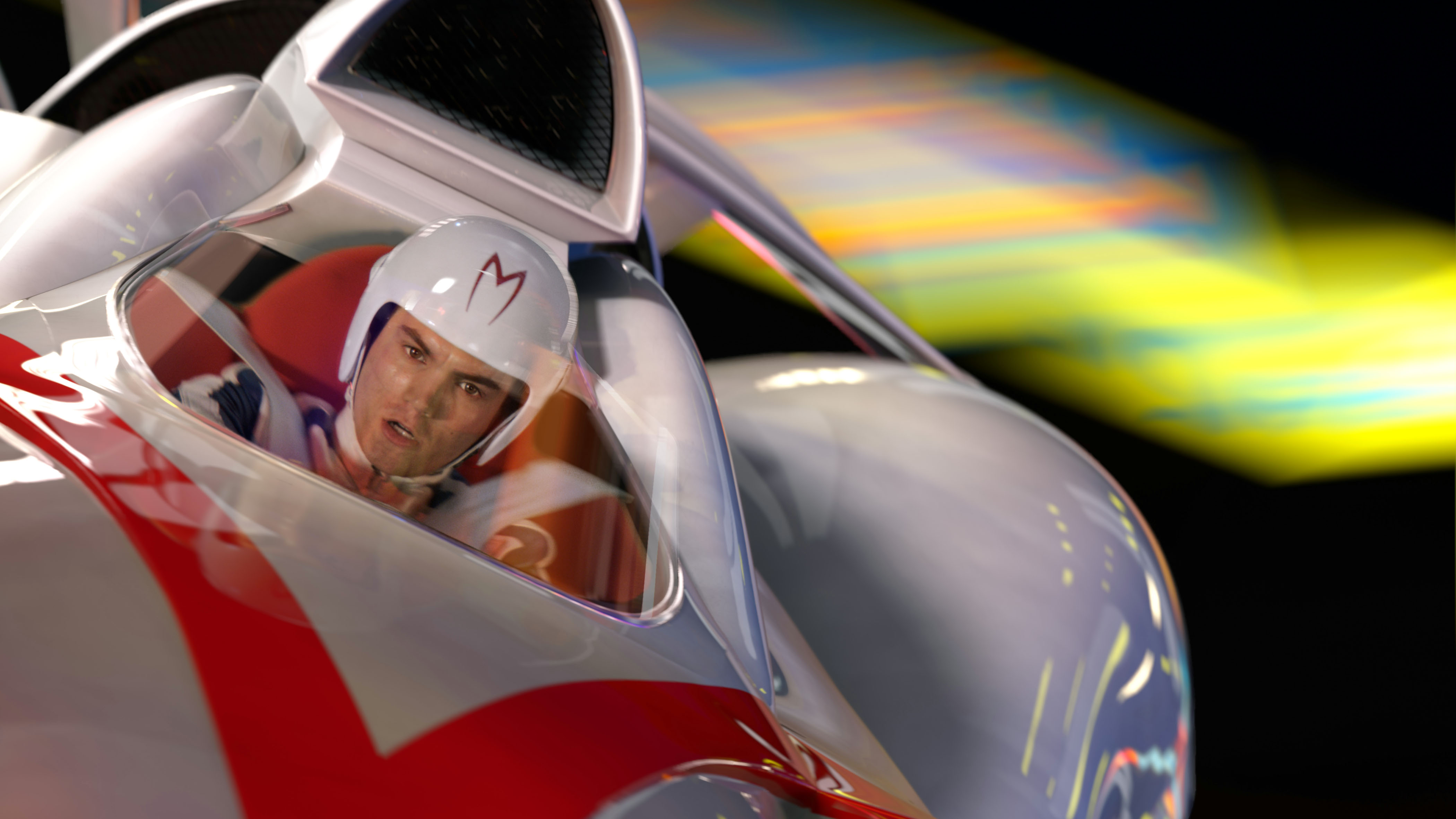 No Merchandising. Editorial Use Only. No Book Cover Usage.Mandatory Credit: Photo by Warner Bros./Kobal/REX/Shutterstock (5885514ai)Emile HirschSpeed Racer - 2008Director: Andy & Larry WachowskiWarner Bros.USAScene Still
