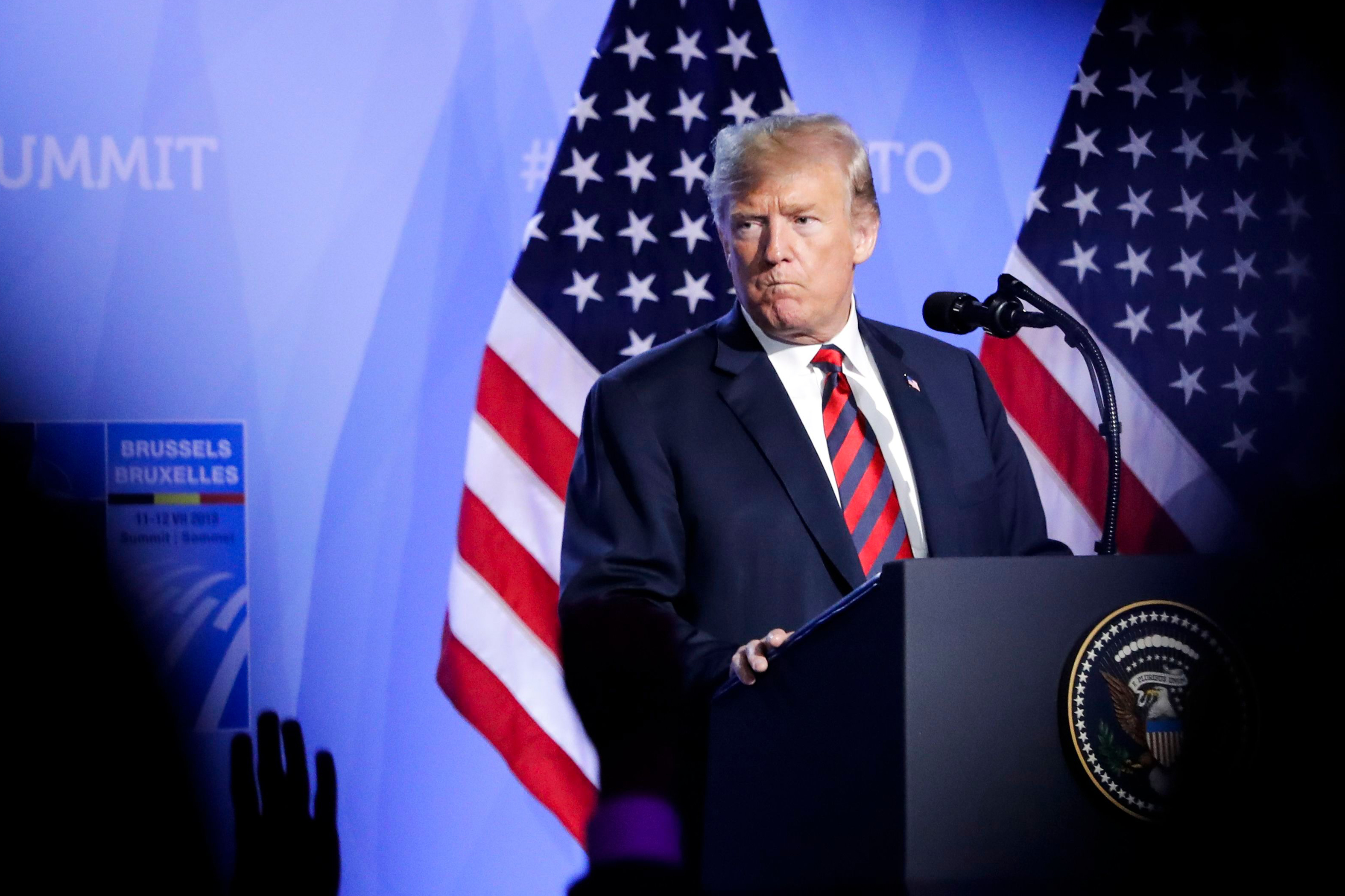 Trump Caps NATO Trip With Wild, Impromptu Press Conference