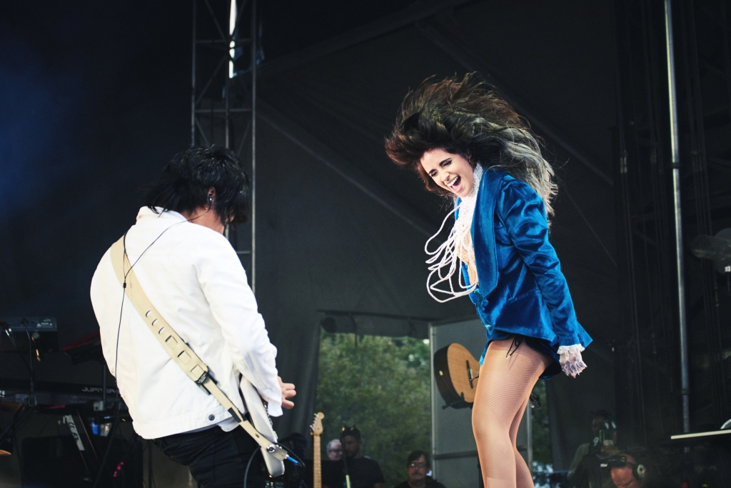 Camila Cabello rocks out during her set on opening night.