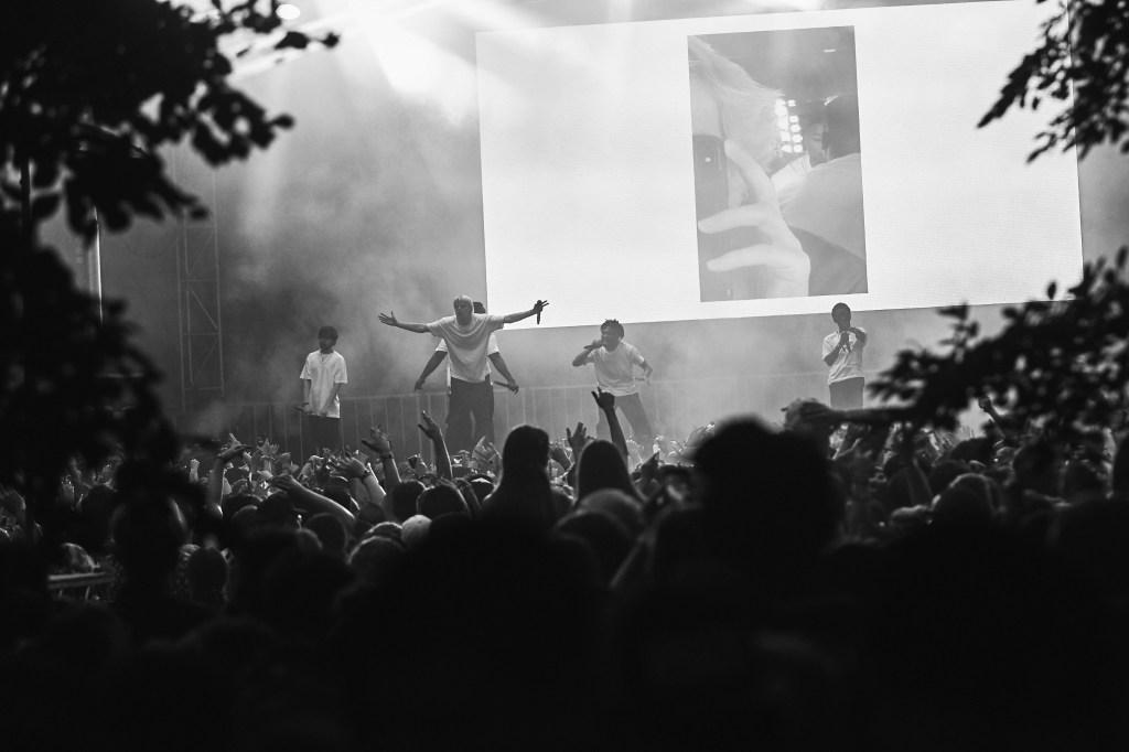 Los Angeles hip-hop collective Brockhampton onstage