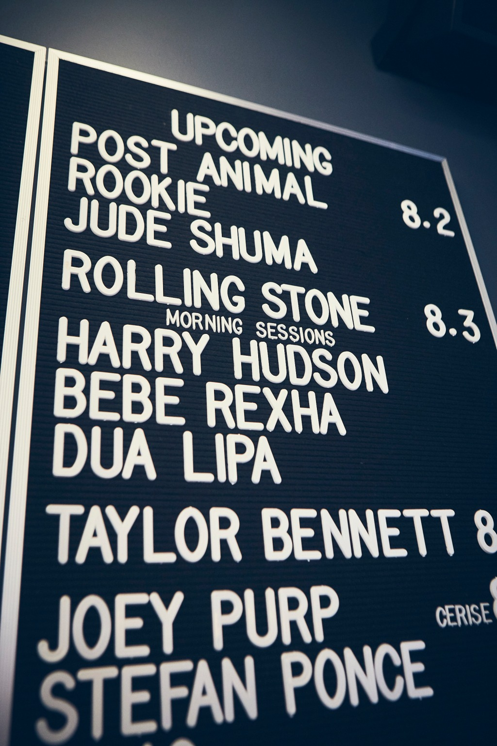 "Harry Hudson, Bebe Rexha and Dua Lipa filled the bill for Rolling Stone's first ""Morning Sessions"" interview series during Lollapalooza"
