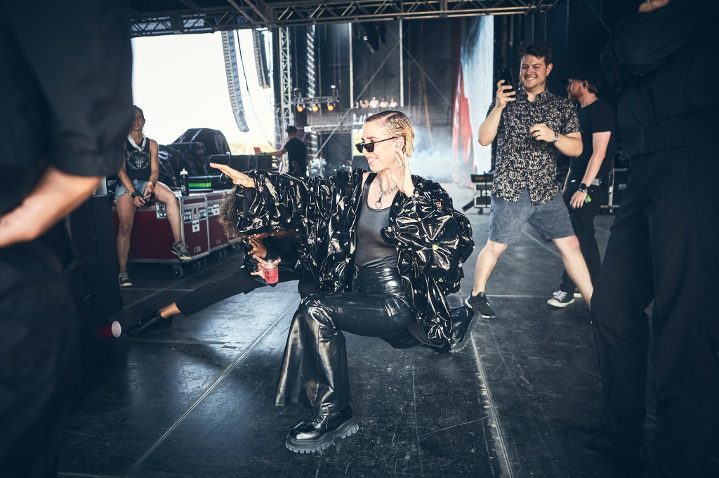 Swedish star Lykke Li strikes a pose