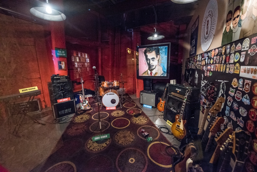 A recreation of the band's practice space